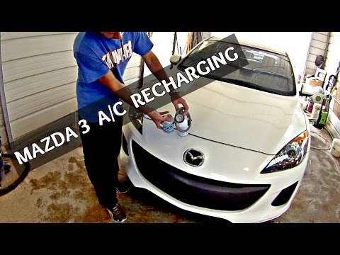 How to recharge the A/C on Mazda 3 2010 2011 2012 2013 Recharge Air Conditioner