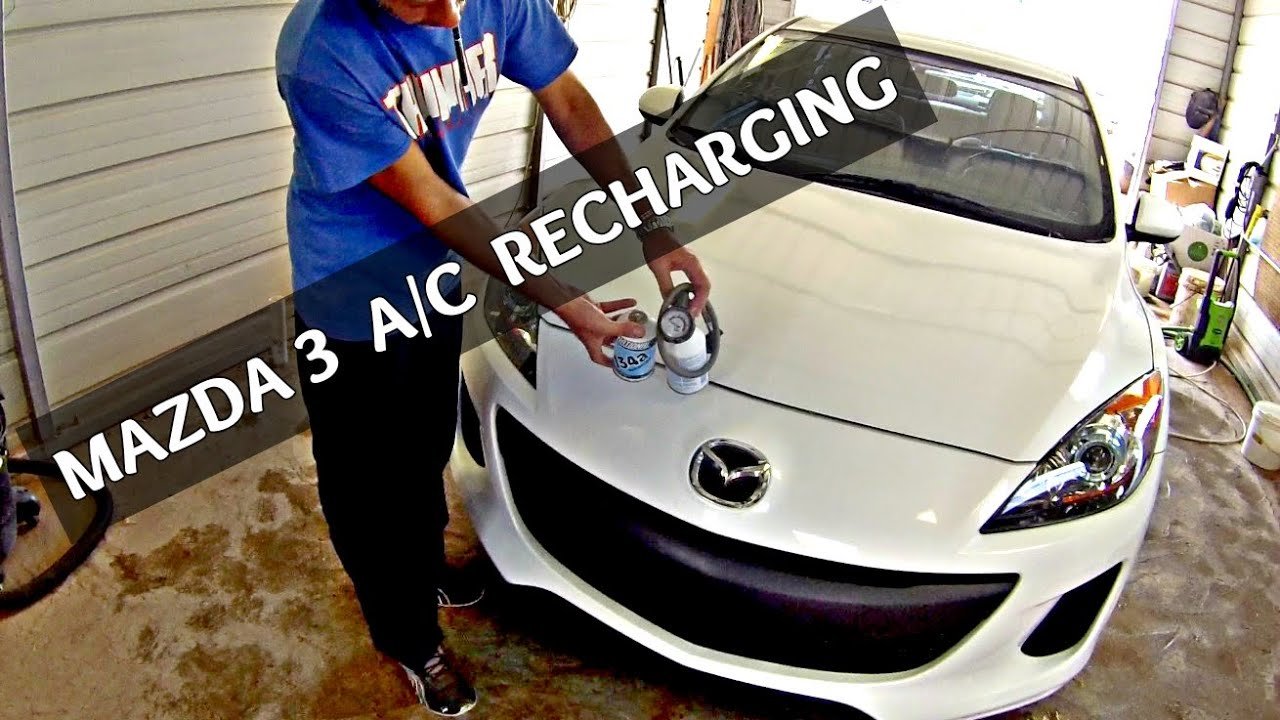 How To Recharge The A C On Mazda 3 2010 2011 2012 2013 Air 2003 6 Engine Diagram Coils Conditioner
