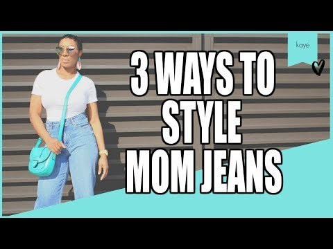 3 Ways To Style Mom Jeans And Tee Shirt Women Over 35 | Kaye Wright