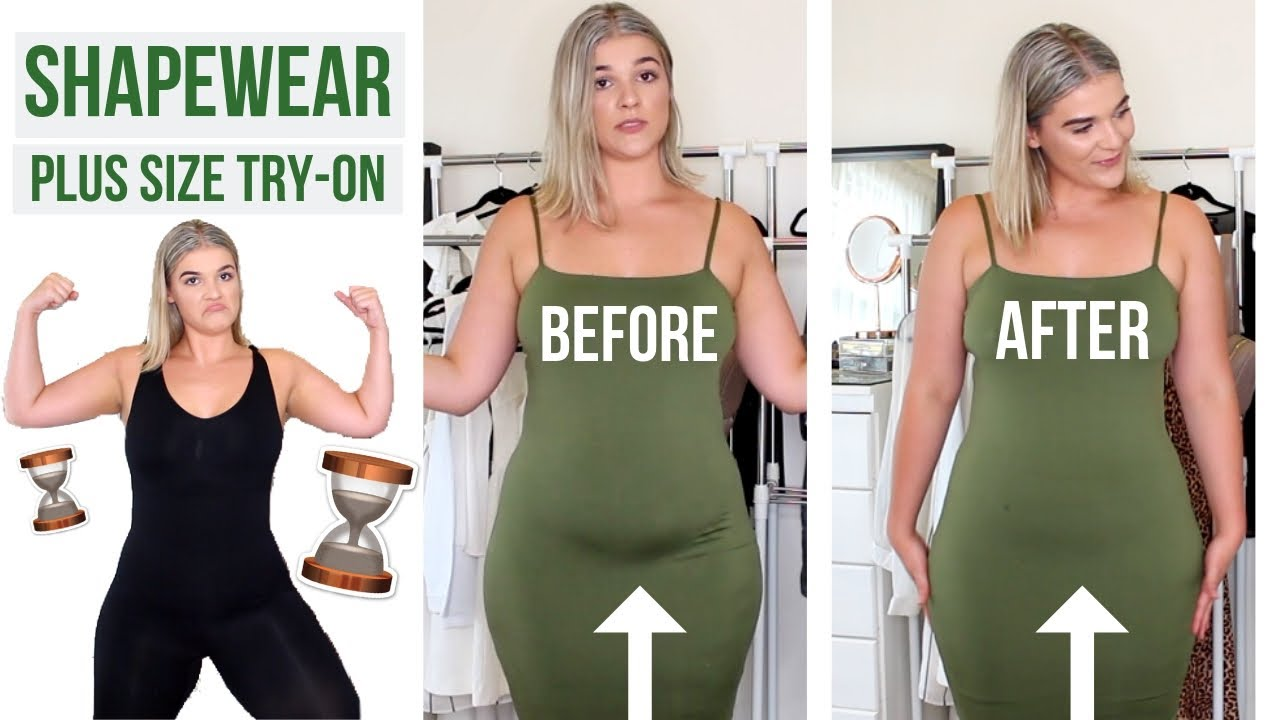 ffb4dffb9aff3 PLUS SIZE SHAPEWEAR TRY ON HAUL! EXPENSIVE VS. CHEAP ! WHICH IS ...