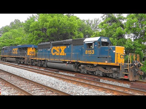 Thumbnail: CSX Q224 Autorack Train Meets Light Power in St Denis