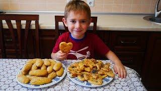 Печенье на скорую руку и печенье минутка Рецепт слоеного печенья и на кефире Владик готовит с мамой