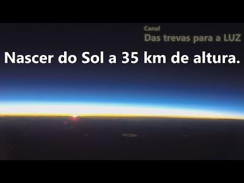 TERRA PLANA/ LUA E NASCER DO SOL VISTOS DE BALÃO A 35 KM/ALT(na integra)
