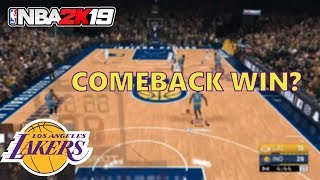 PLAYING FROM BEHIND ALL GAME! NBA 2K19 PLAY NOW ONLINE GAMEPLAY: '98 LAKERS!