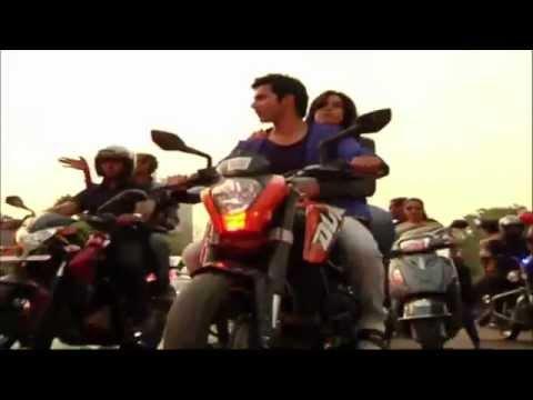 Varun Dhawan takes Ekta Kapoor for a ride on his Bike @ Main Tera Hero @ Promotion