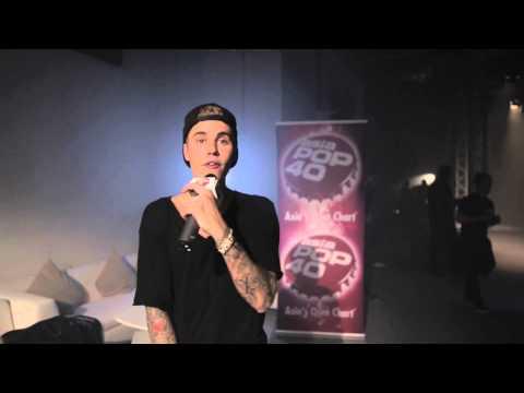 Justin Bieber on Asia Pop 40