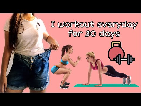 I did 30 Minutes Workout Everyday for 30 Days ❤️ *this happened*