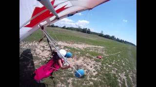 THE PINK PRINCESS PILOT OF HIGH PERSPECTIVE HANG GLIDING
