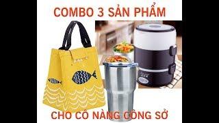 Hộp Cơm Cắm Điện 3 Tầng Bằng Inoc   Simple Steamed Rice (Rice Cooker)   Trang Sophie