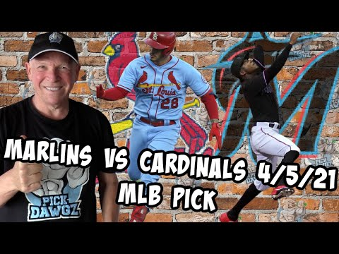 Miami Marlins vs St  Louis Cardinals 4/5/21 MLB Pick and Prediction MLB Tips Betting Pick