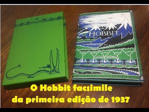 O Hobbit versão facsimile da primeira edição de 1937 - tolkienbrasil.com