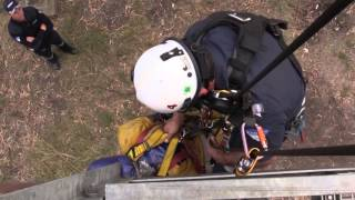 Vertical Rescue Tower Training Drill