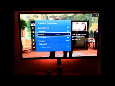 optimale bildeinstellungen samsung smart tv step by step. Black Bedroom Furniture Sets. Home Design Ideas