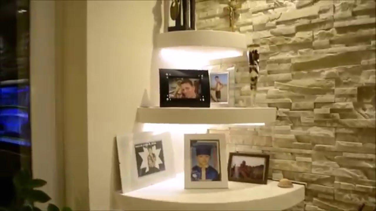 Cz7 ściana Tv W Kamieniu Ozdobnym Tv In A Stone Wall Decorative Tv Wand Szafarek Tomasz