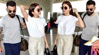 Virat Kohli And Anushka Sharma CLASSY Entry At Airport | WATCH VIDEO