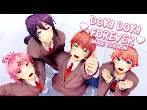 【MMD】Doki Doki Forever! (MALE VERSION) - Cover by Caleb Hyles [DDLC]