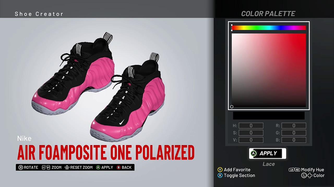 new style 36a88 0a934 NBA 2K19 Shoe Creator - Nike Foamposite One