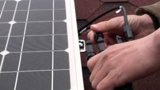 Монтаж солнечной электростанции 300 Вт(, 2014-05-06T11:17:47.000Z)