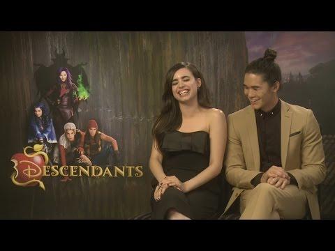 Disney's Descendants: Sofia Carson & Booboo Stewart talk Selena, squads and play trick on reporter