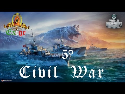 World of Warships ITA - 5° Civil War - Team Battle - Streaming Online - Exige
