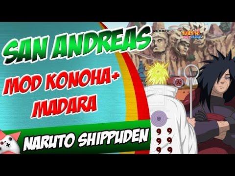 GTA SA MOD Naruto Shippuden Madara  Mapa Konoha  YouTube