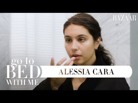 Alessia Caras Nighttime Skincare Routine  Go To Bed With Me  Harpers BAZAAR