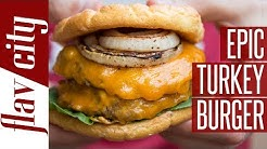 Epic Low Calorie Turkey Burger With Cloud Bread Bun