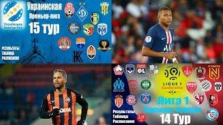 Футбол Чемпионат Франции 14 тур ЛИГА 1 Чемпионат Украины 15 тур УПЛ Результаты Таблица