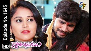 Swathi Chinukulu | 10th December 2018 | Full Episode No 1645 | ETV Telugu