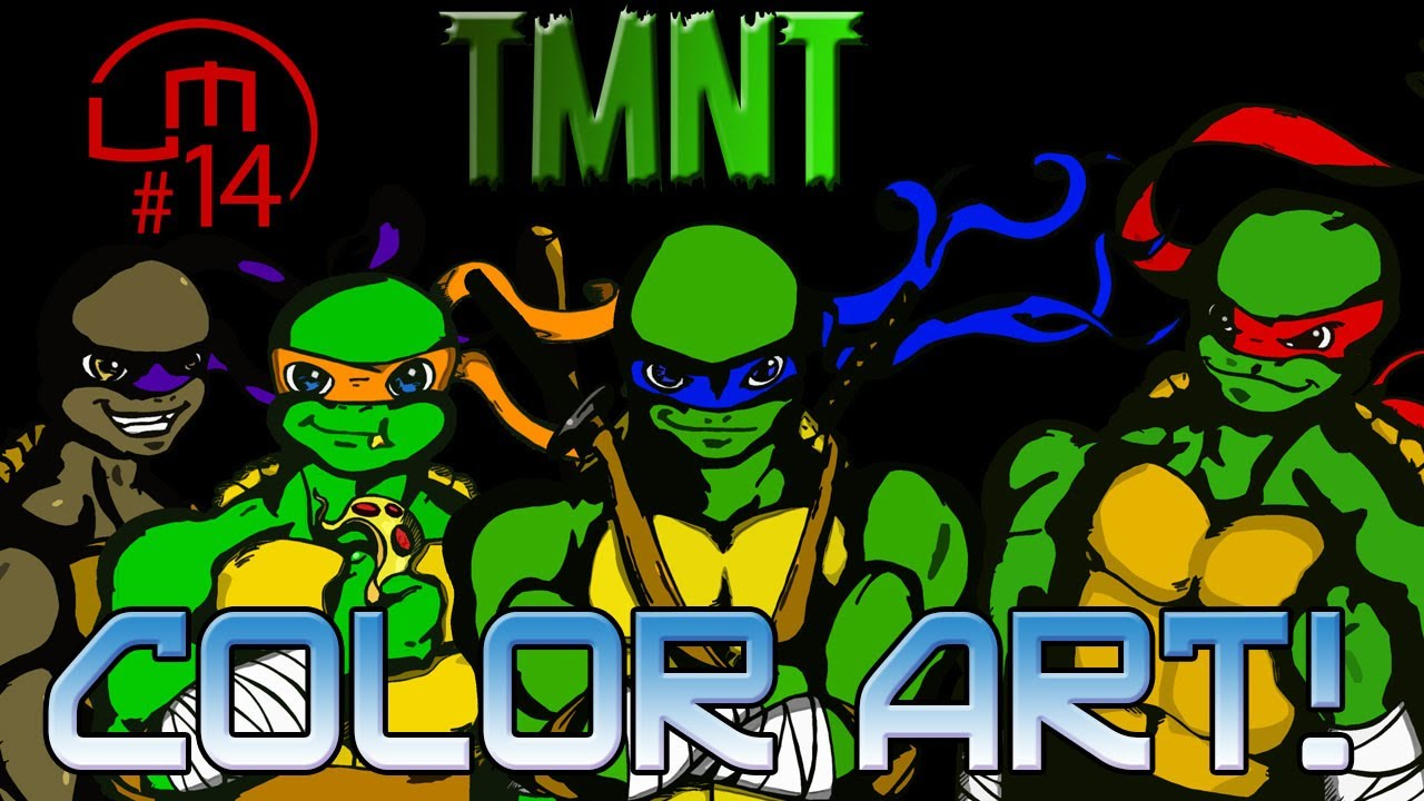 Colorindo As Tartarugas Ninjas No Photoshop Youtube