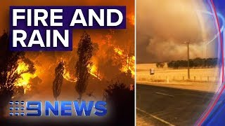 Australian Bushfire Towns Wake To Rain Threat Of Mega Fire Looms Nine News Australia