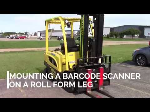 How to mount a Barcode Scanner on a Roll Form Leg