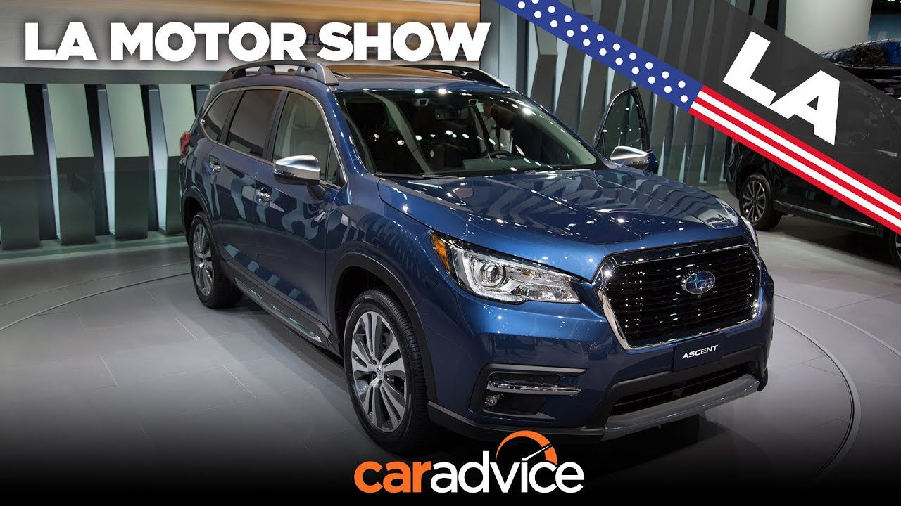 2018 Subaru Ascent walkaround | Los Angeles motor show - Dauer: 88 Sekunden
