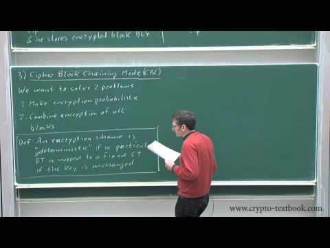 Lecture 9: Modes of Operation for Block Ciphers by Christof Paar