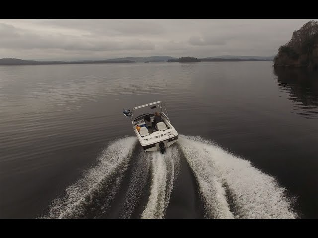 Loch Lomond - April 2018 - Bayliner 175 - Wakeboarding