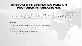 INTERVALO DE LA PROPORCIÓN