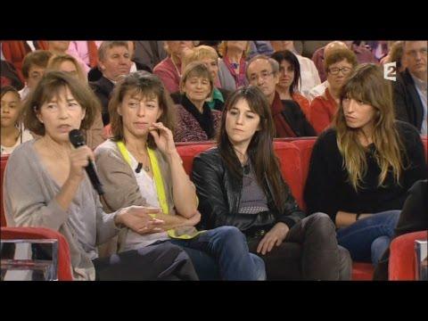 JANE BIRKIN  AVEC SES 3  FILLES !.,CHEZ  MICHEL DRUCKER.HD720p