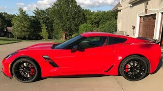 NEW Red 2017 Grand Sport C7 Corvette Delivery Review
