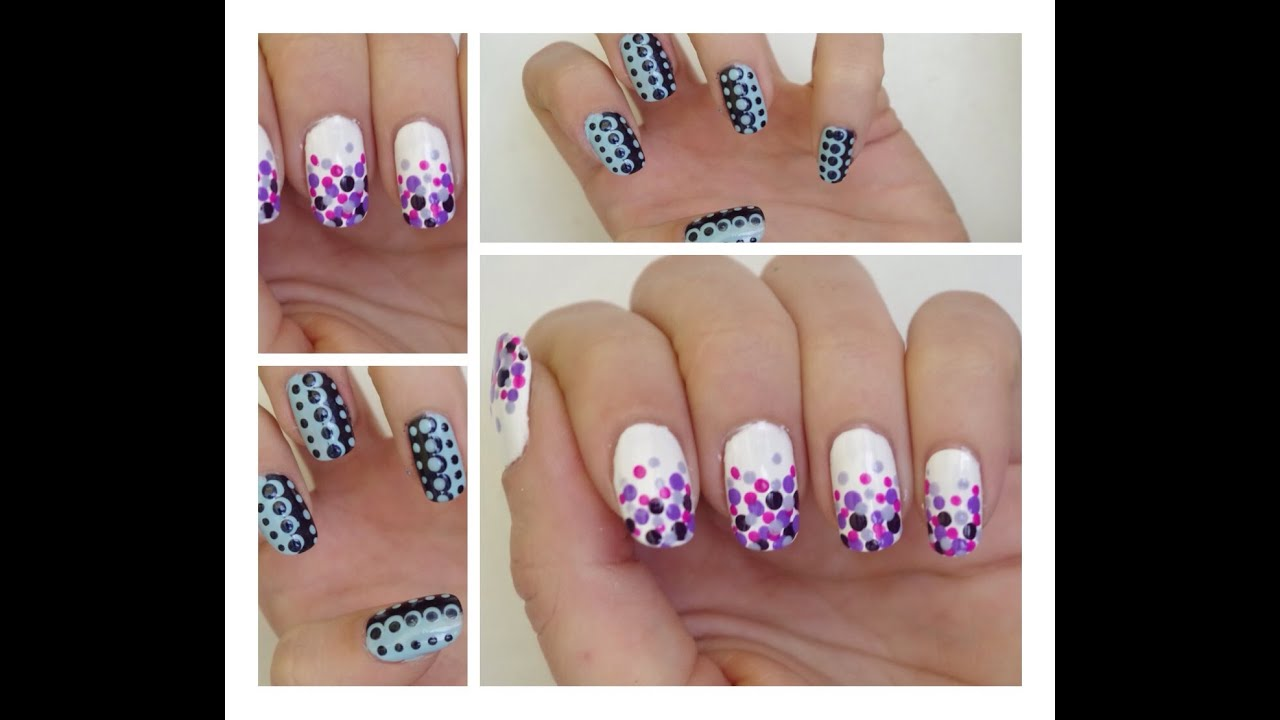 Beliebt Tuto Nail Art ] 2 manucures faciles au dotting tool ! - YouTube EO06