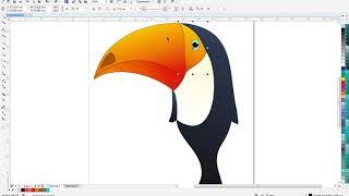 Corel Draw для начинающих # Урок 9 - Необычная птица и кривая безье