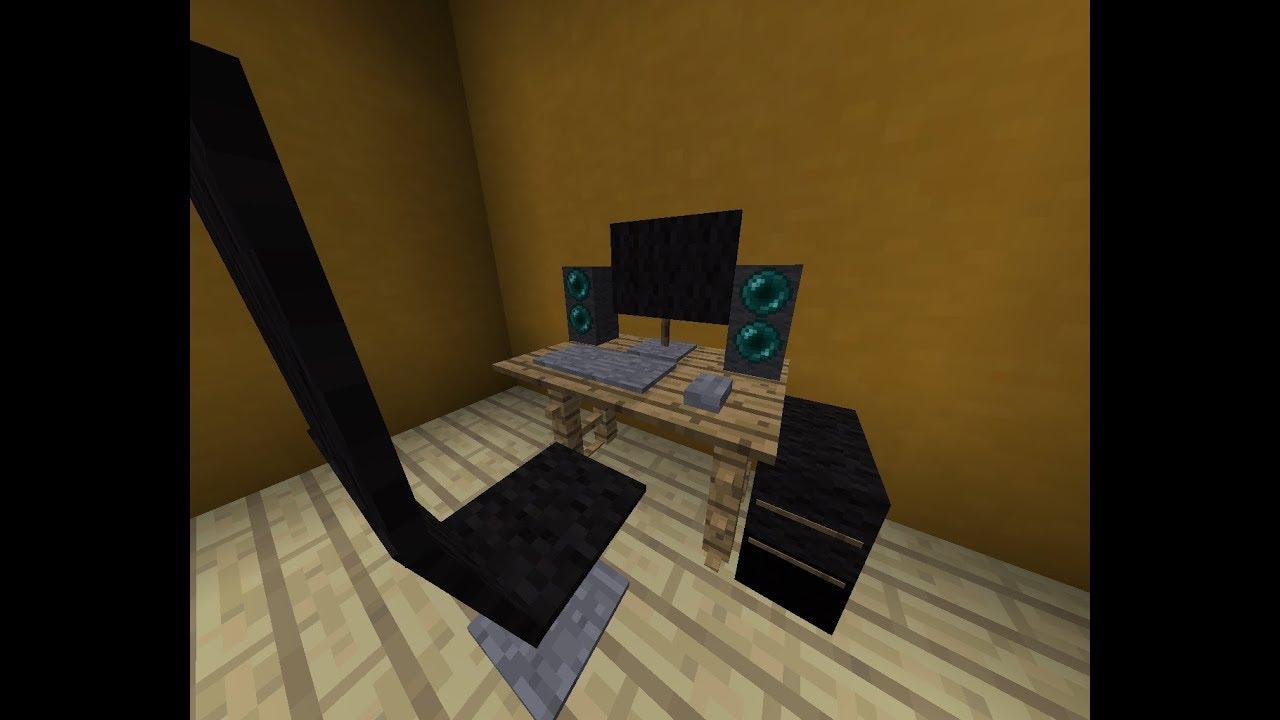 письменный стол как сделать майнкрафт #6