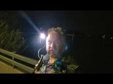 New Orleans Urban Fishing, NIght Time Bayou ST John Winter 2019