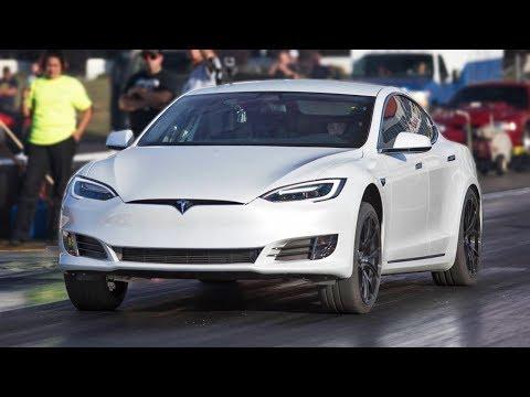 Download Youtube: P100D Tesla TROLLS Muscle Cars!