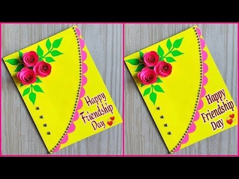 Beautiful handmade friendship day card / How to make friendship day greeting card