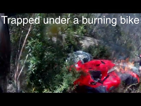 VFR800 Crash and Burn