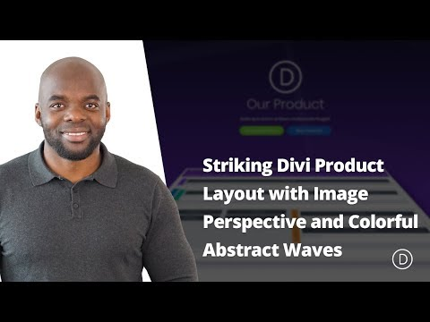 Design a Striking Divi Product Layout with Image Perspective and Colorful Abstract Waves