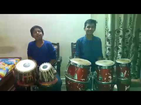 gulabi ankhen song Congo and table by ANSH and pratham