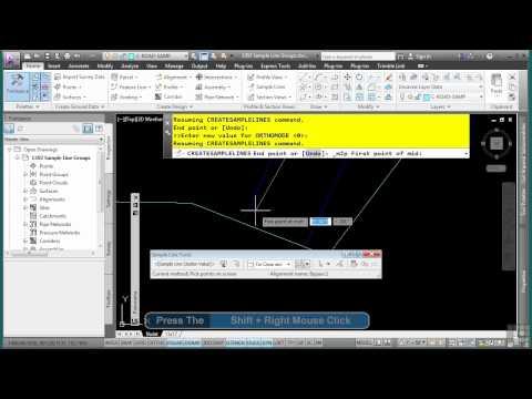 AutoCAD Civil 3D Tutorial | Sample Line Groups | InfiniteSkills