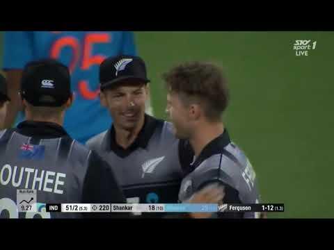 Home Summer Highlights - Lockie Ferguson yorker to Shikhar Dhawan vs India in Wellington 2019