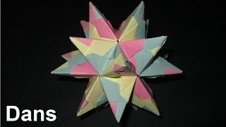 How To Make An Origami Tornillo Module (great Stellated Dodecahedron)